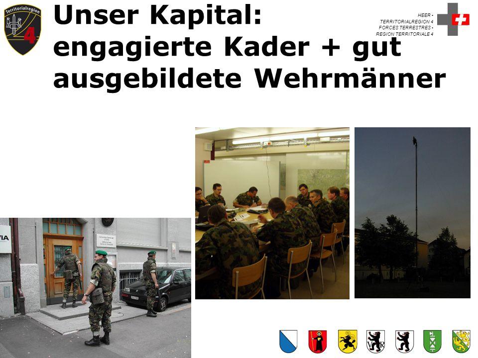 Unser Kapital: engagierte Kader + gut ausgebildete Wehrmänner