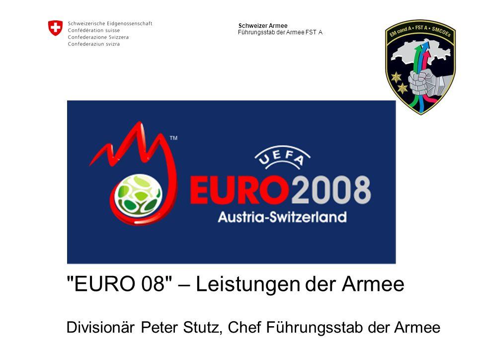 EURO 08 – Leistungen der Armee