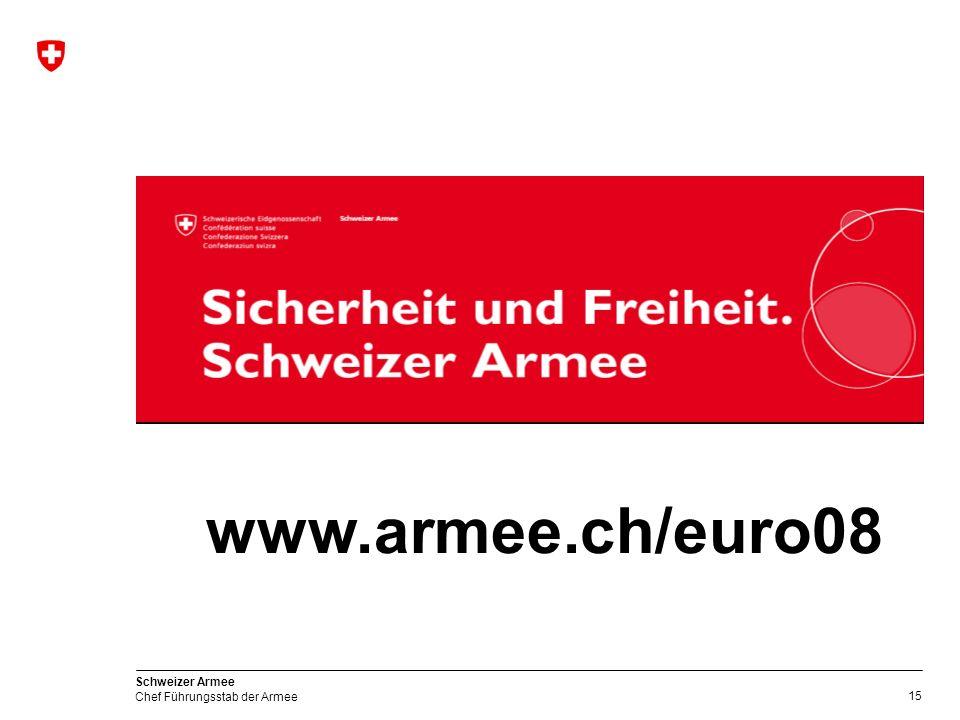 C FST A Leistungen der Armee zu Gunsten der EURO 08