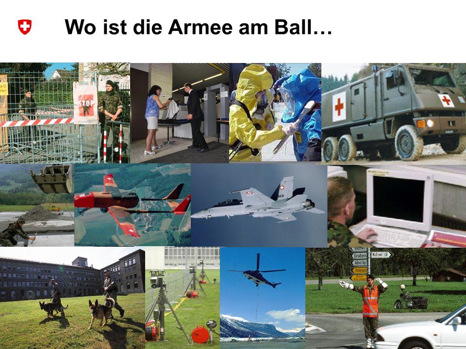 Wo ist die Armee am Ball…