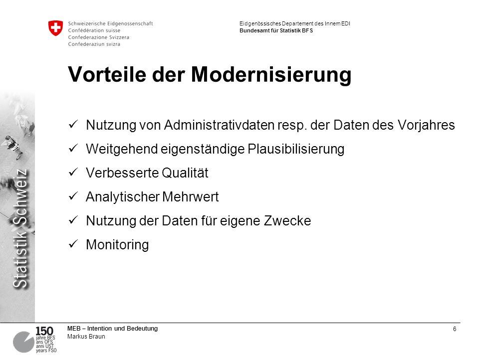 Vorteile der Modernisierung