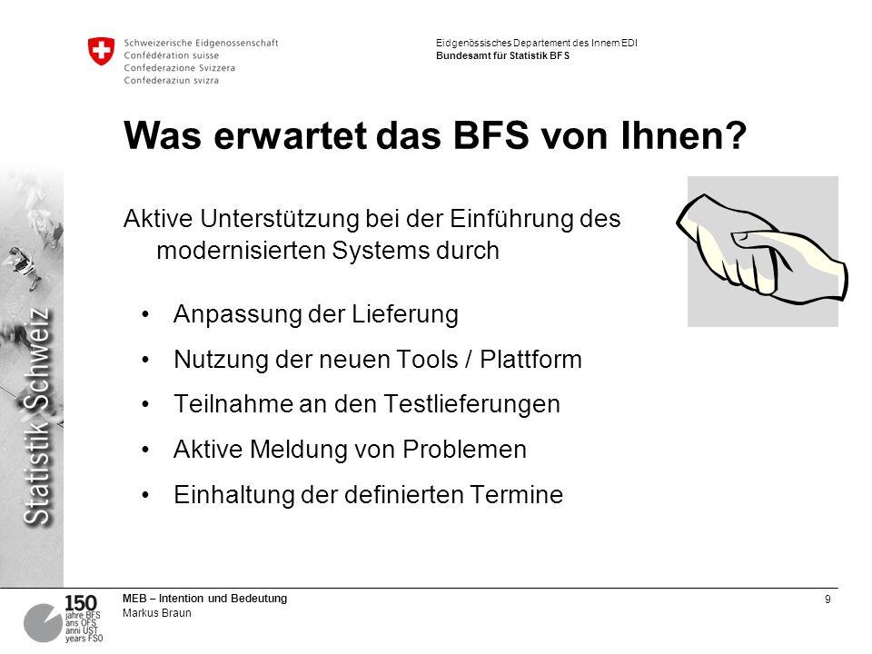 Was erwartet das BFS von Ihnen