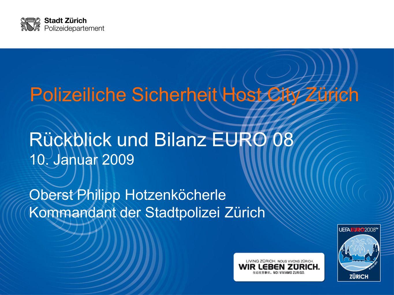 Polizeiliche Sicherheit Host City Zürich