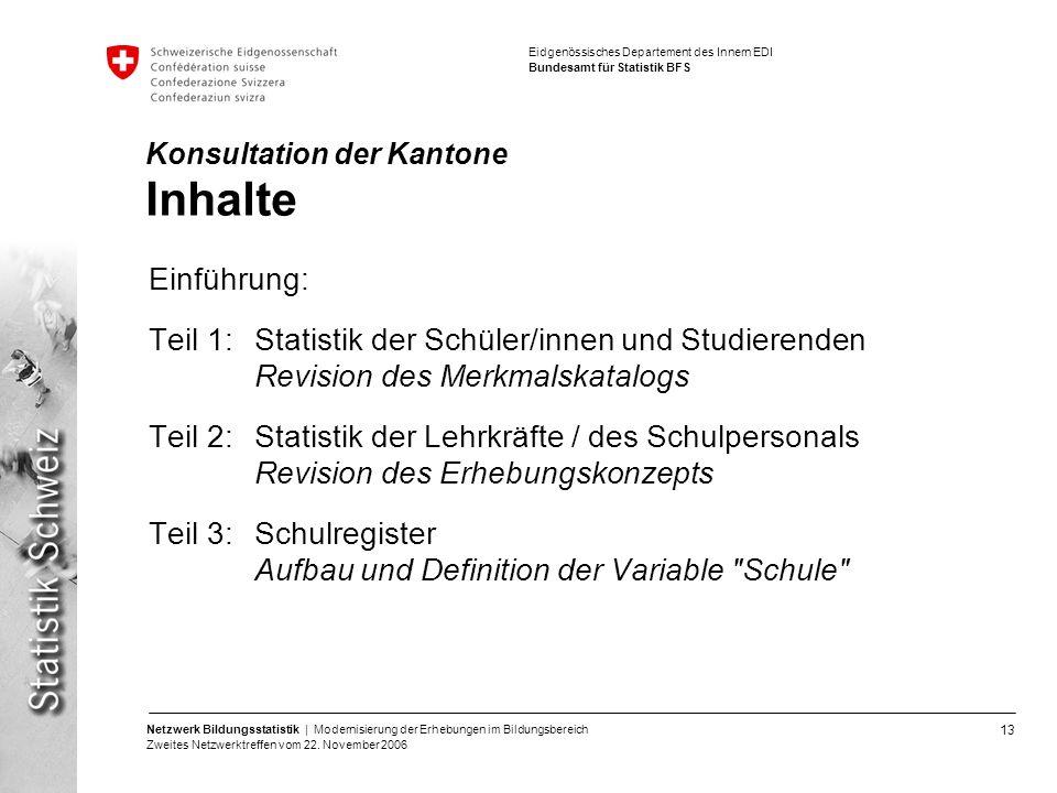 Konsultation der Kantone Inhalte