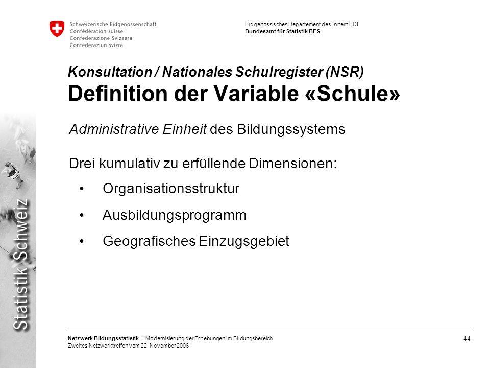 Administrative Einheit des Bildungssystems