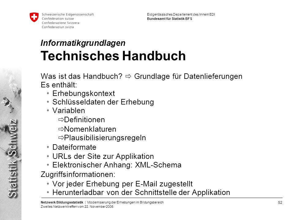Informatikgrundlagen Technisches Handbuch