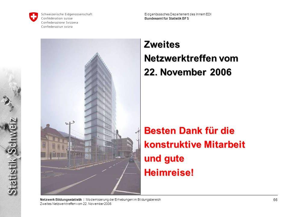 Zweites Netzwerktreffen vom 22. November 2006