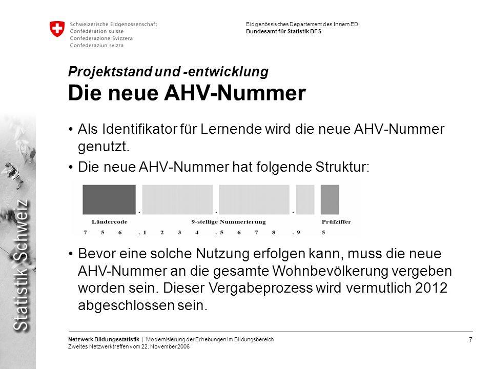 Als Identifikator für Lernende wird die neue AHV-Nummer genutzt.