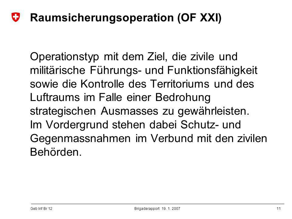 Raumsicherungsoperation (OF XXI)