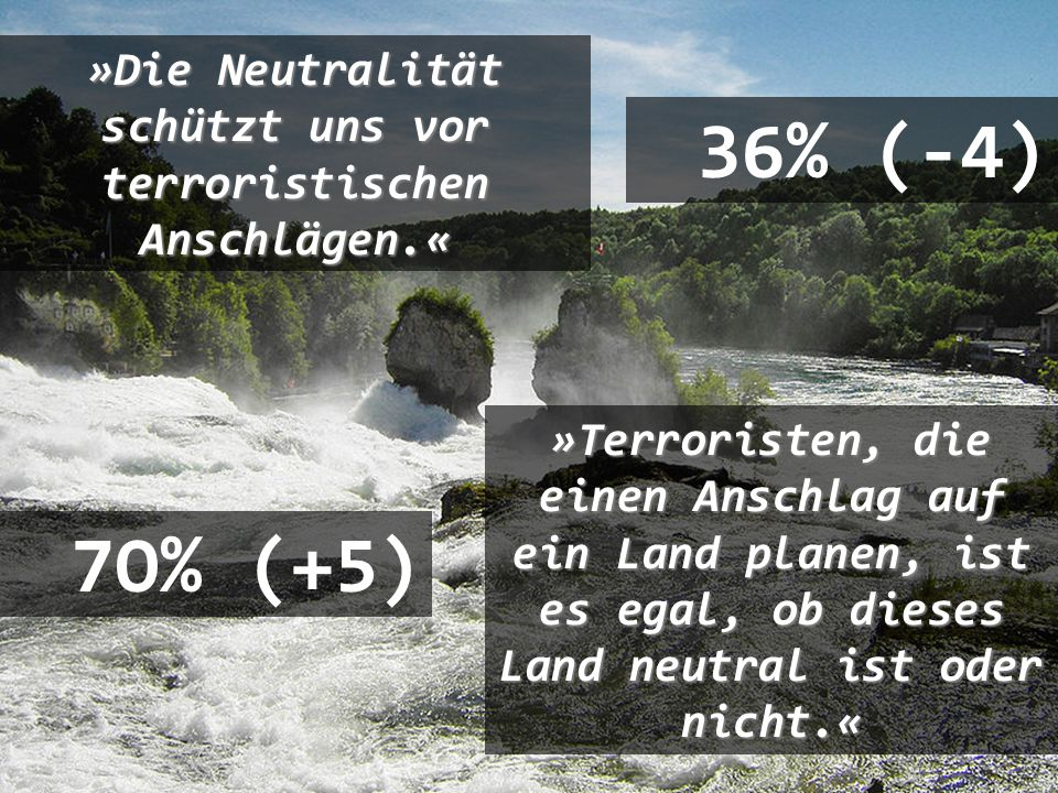»Die Neutralität schützt uns vor terroristischen Anschlägen.«