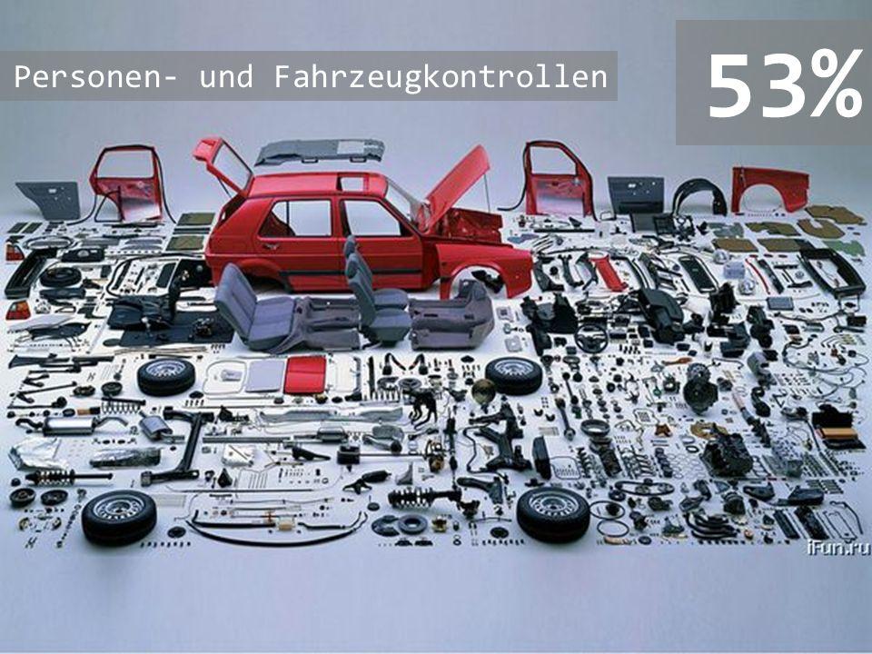 53% Personen- und Fahrzeugkontrollen