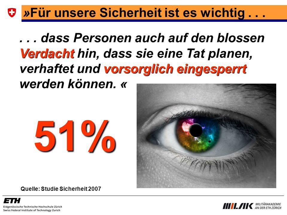51% »Für unsere Sicherheit ist es wichtig . . .