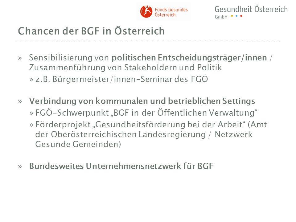 Chancen der BGF in Österreich