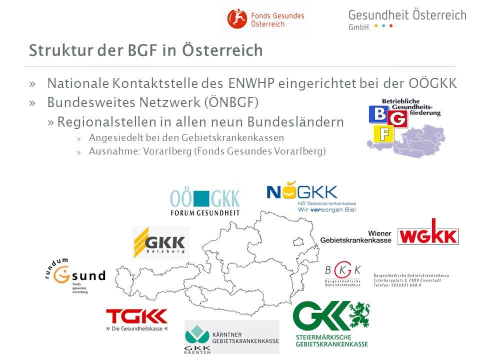 Struktur der BGF in Österreich