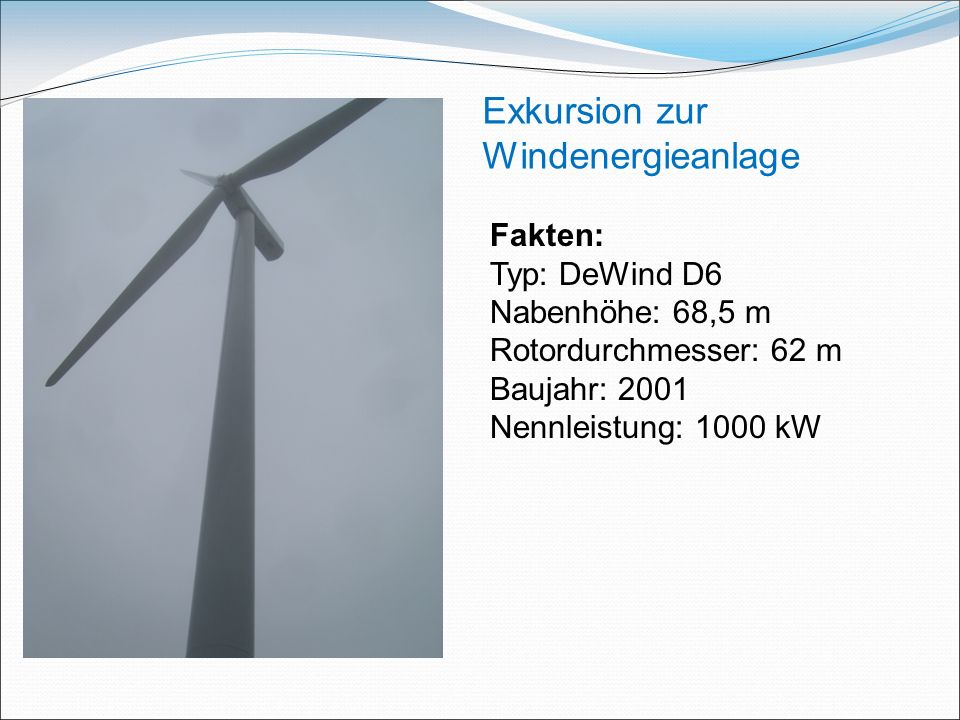 Exkursion zur Windenergieanlage
