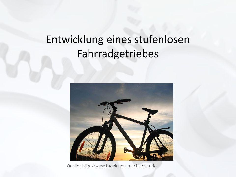 Entwicklung eines stufenlosen Fahrradgetriebes