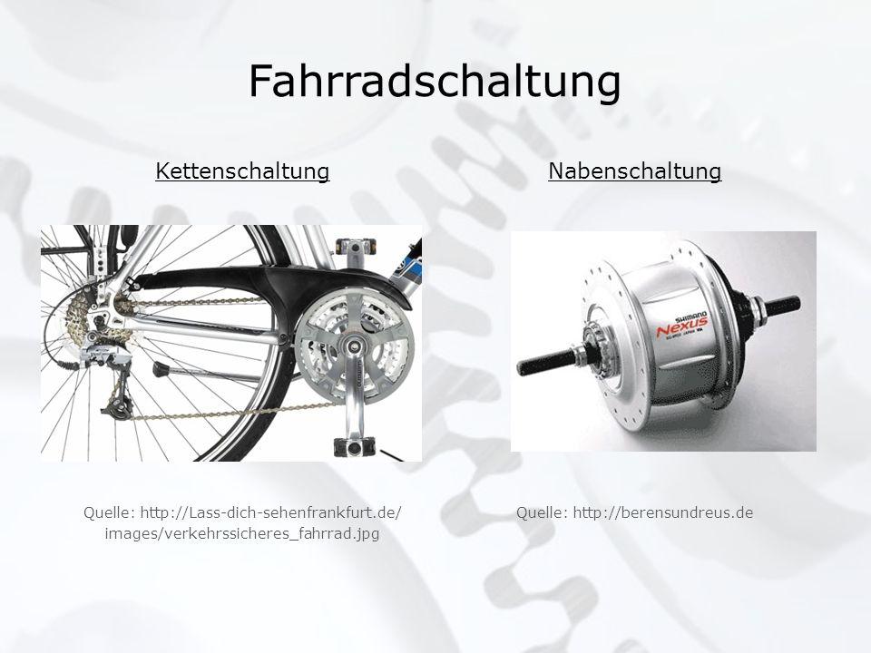 Fahrradschaltung Kettenschaltung Nabenschaltung