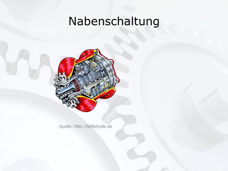 Nabenschaltung Quelle: http://leifiphysik.de Bild scannen