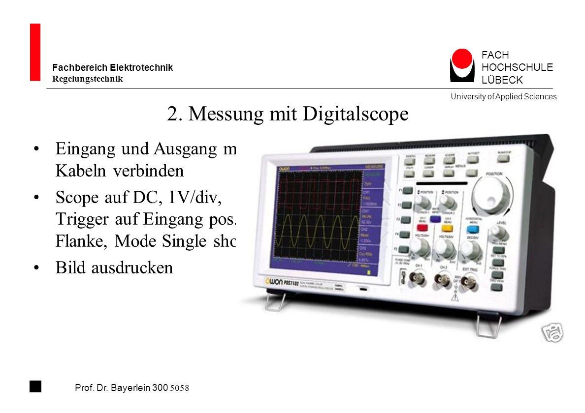2. Messung mit Digitalscope