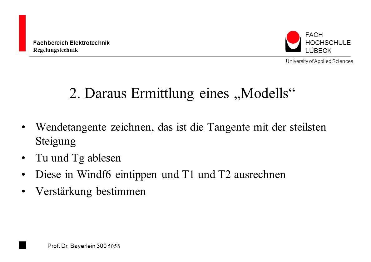 """2. Daraus Ermittlung eines """"Modells"""