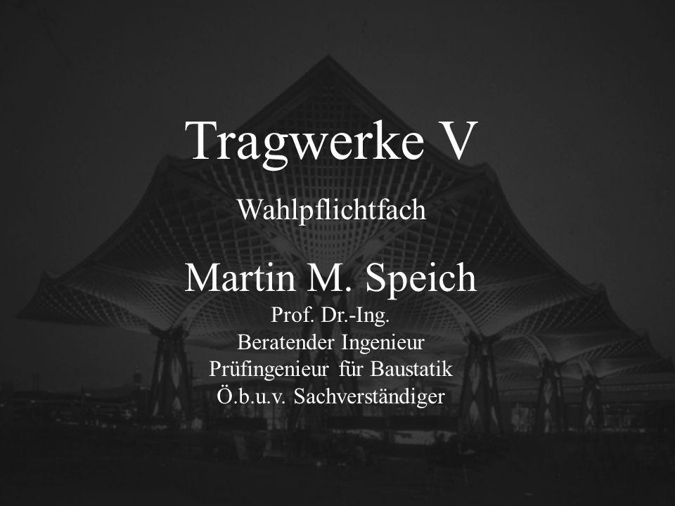 Tragwerke V Martin M. Speich Wahlpflichtfach INTROBILD Prof. Dr.-Ing.