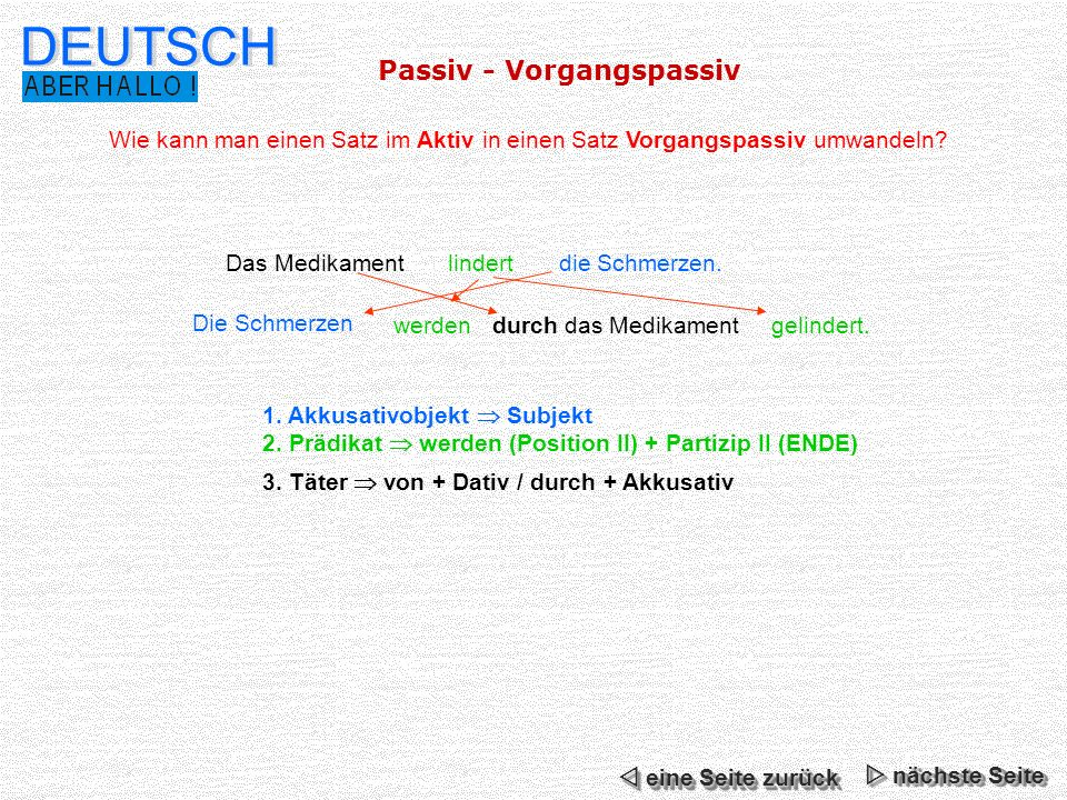 DEUTSCH Passiv - Vorgangspassiv