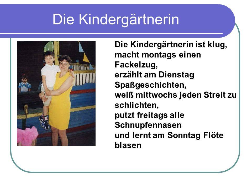 Die Kindergärtnerin