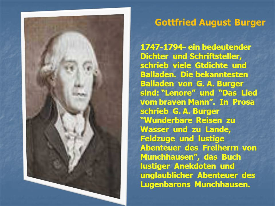 Gottfried August Burger