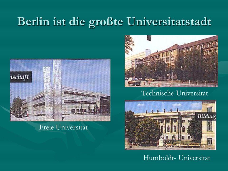 Berlin ist die großte Universitatstadt