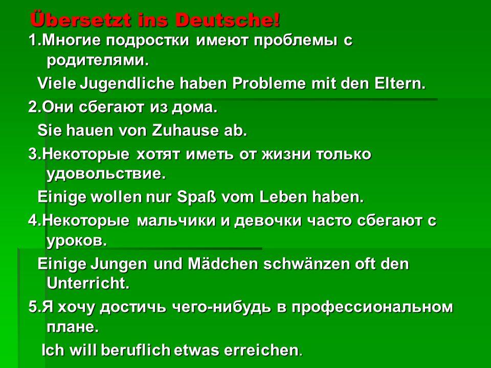 Übersetzt ins Deutsche!