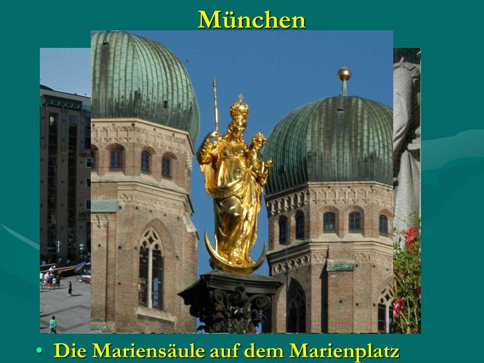 München Die Mariensäule auf dem Marienplatz