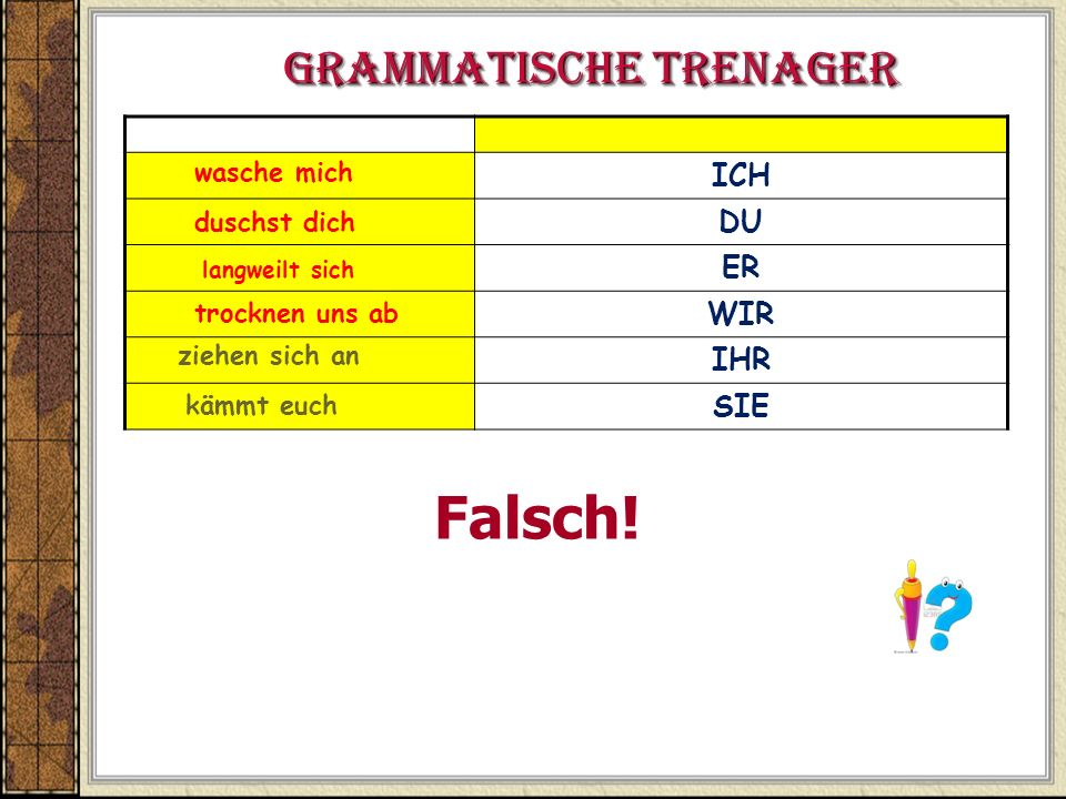 Grammatische Trenager
