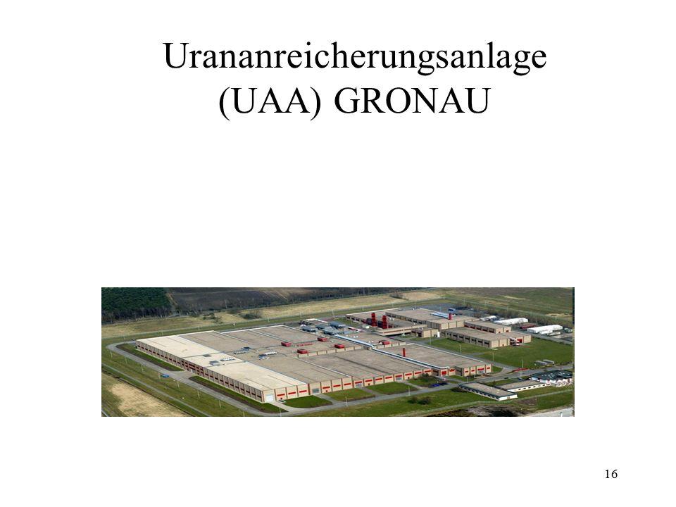 Urananreicherungsanlage (UAA) GRONAU
