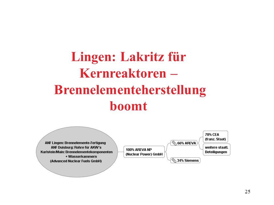 Lingen: Lakritz für Kernreaktoren – Brennelementeherstellung boomt