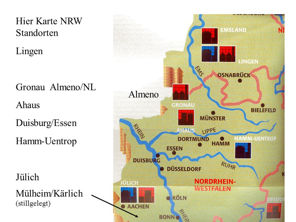 Hier Karte NRW Standorten