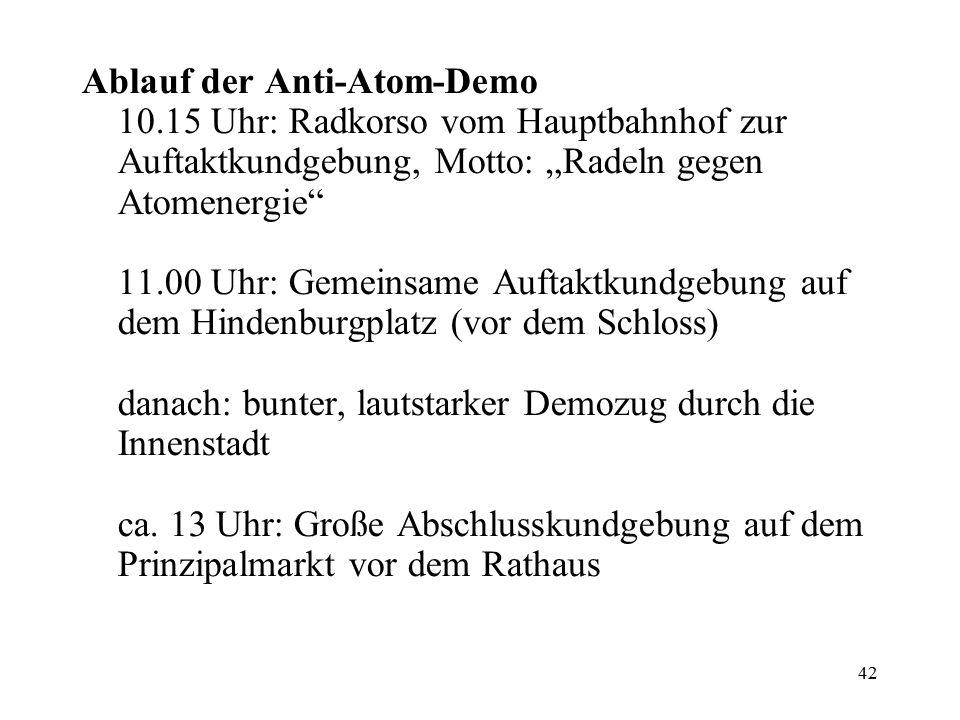 Ablauf der Anti-Atom-Demo 10