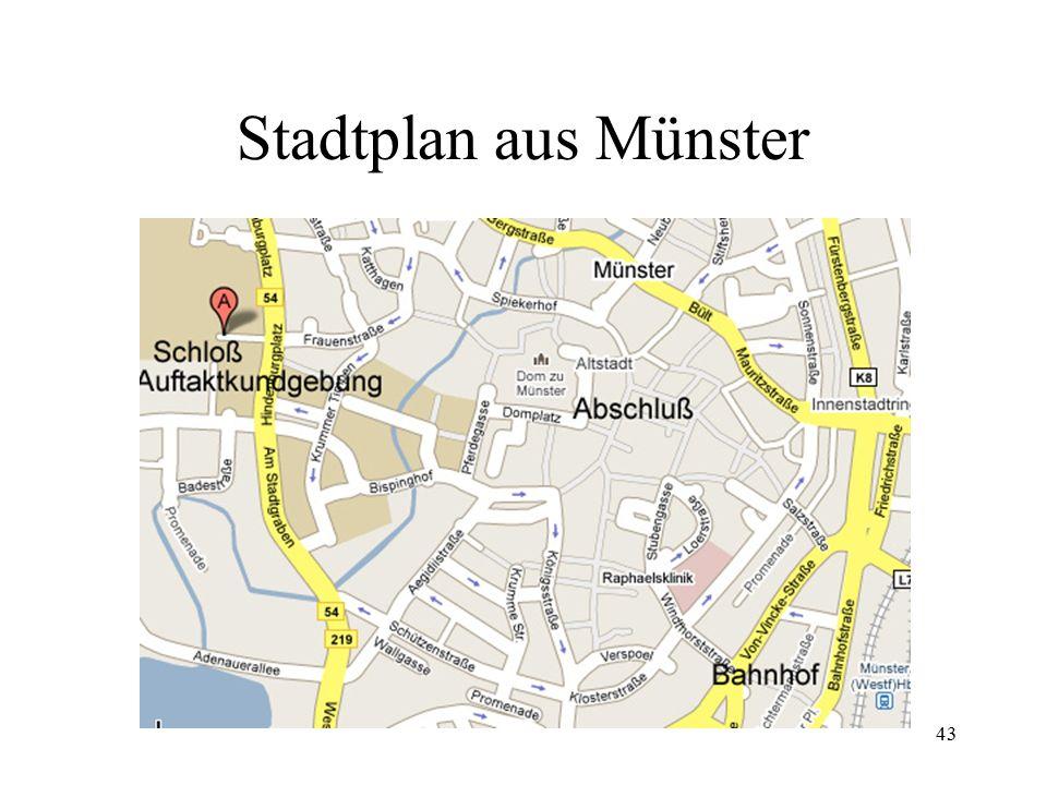 Stadtplan aus Münster