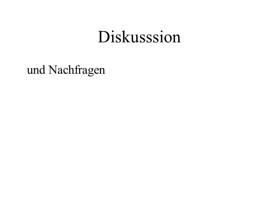 Diskusssion und Nachfragen