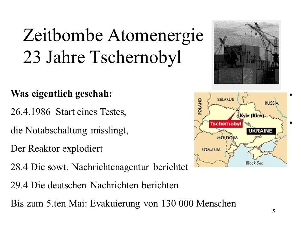 Zeitbombe Atomenergie 23 Jahre Tschernobyl