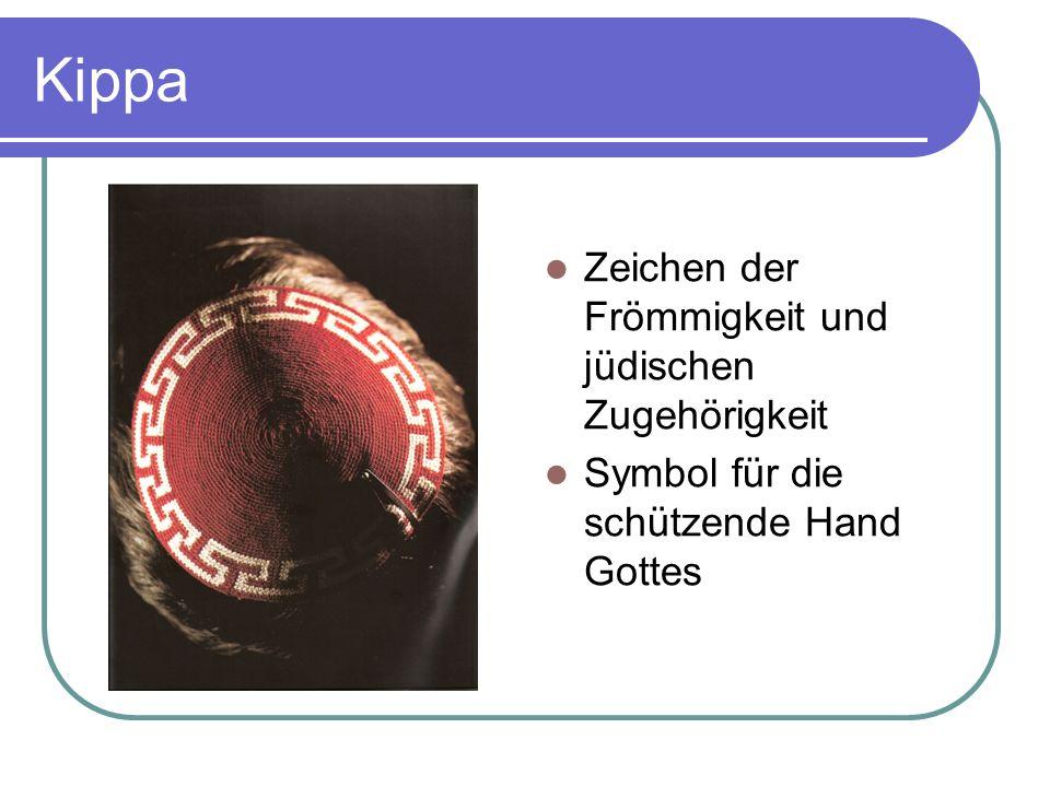 Kippa Zeichen der Frömmigkeit und jüdischen Zugehörigkeit