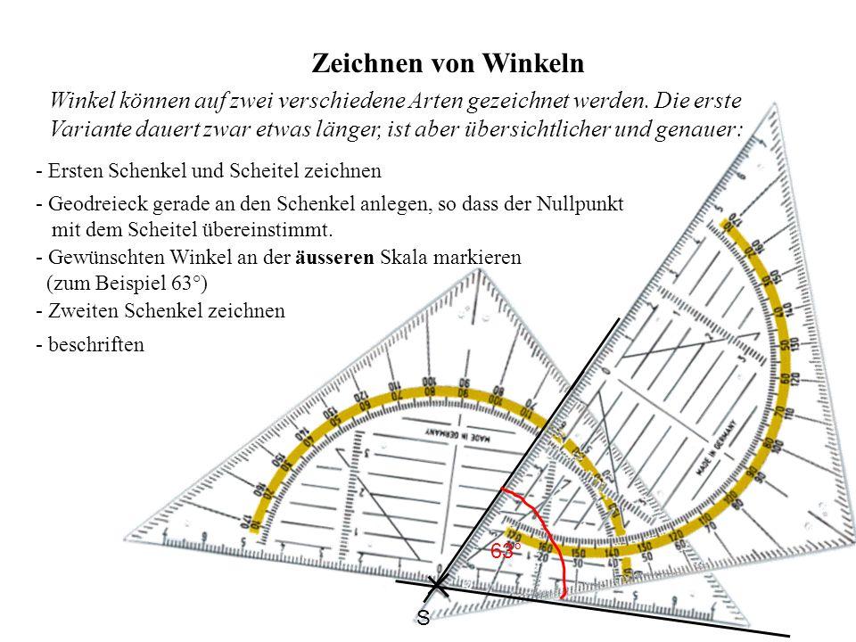 Zeichnen von Winkeln