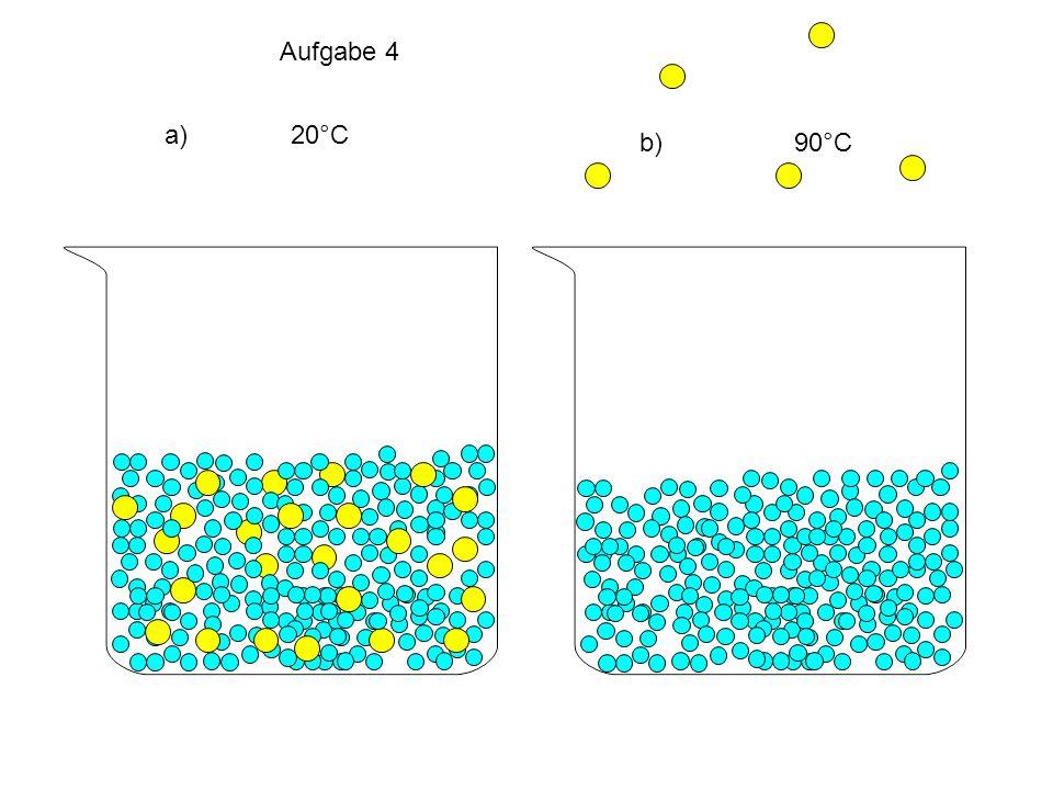 Aufgabe 4 a) 20°C b) 90°C