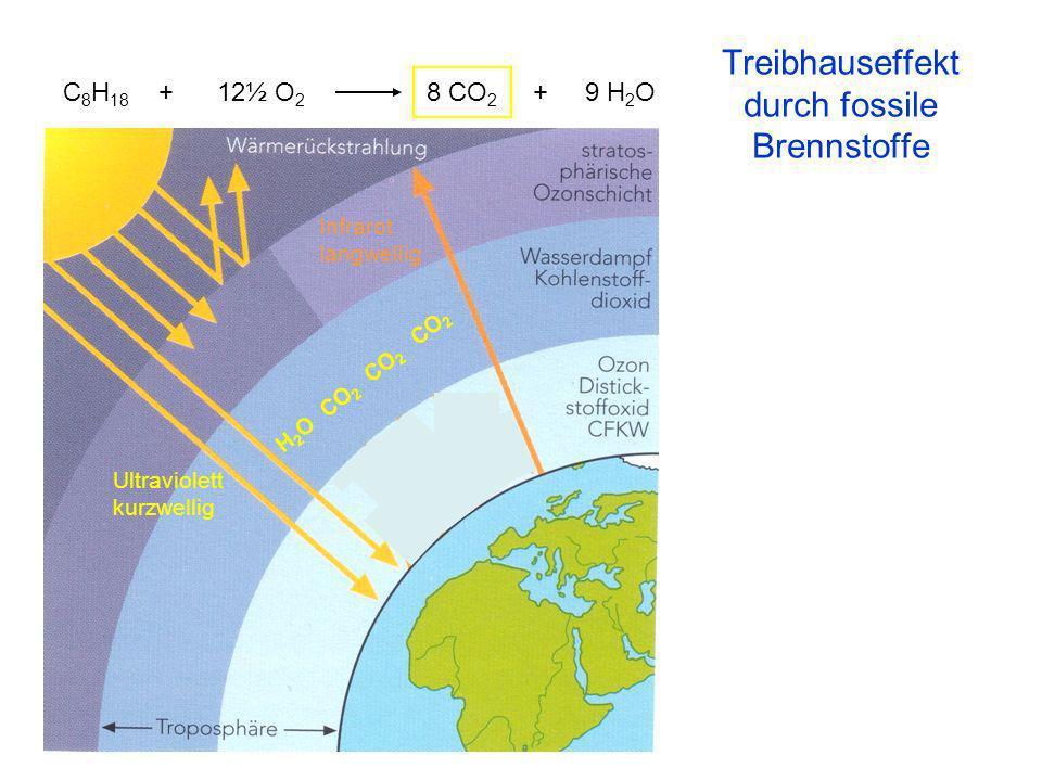 Treibhauseffekt durch fossile Brennstoffe