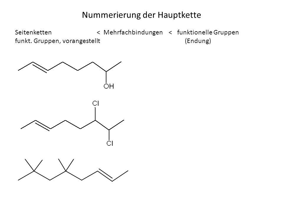 Nummerierung der Hauptkette