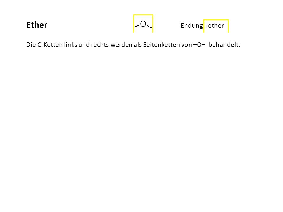 ................................................Ether Endung: -ether.