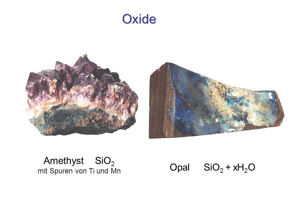 Amethyst SiO2 mit Spuren von Ti und Mn