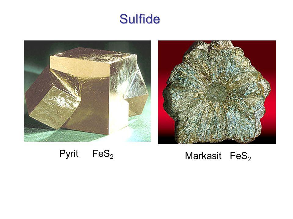 Sulfide Pyrit FeS2 Markasit FeS2