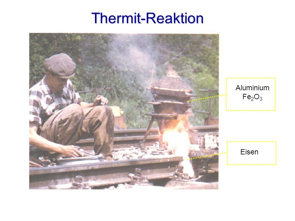 Thermit-Reaktion Aluminium Fe2O3 Eisen