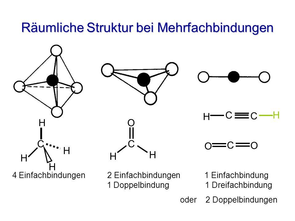 Räumliche Struktur bei Mehrfachbindungen