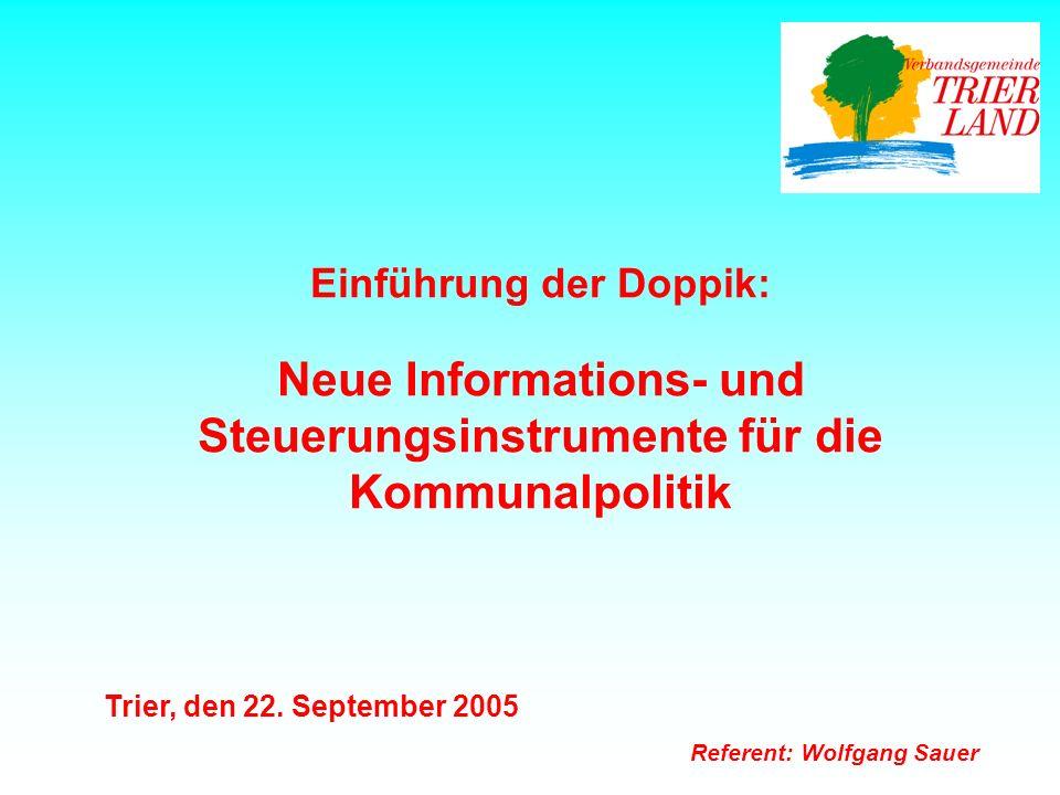 Neue Informations- und Steuerungsinstrumente für die Kommunalpolitik